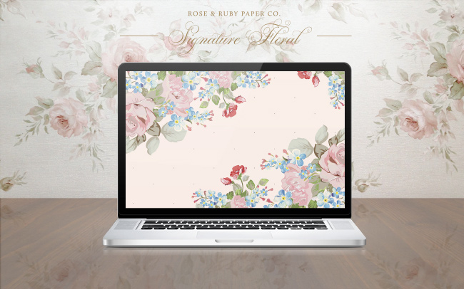 Free desktop wallpapers design by Rose & Ruby Co. for Her Lovely Heart.