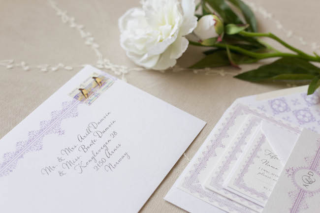 Rose & Ruby Lacey Suite Mulberry Wedding Invitation RSVP 6