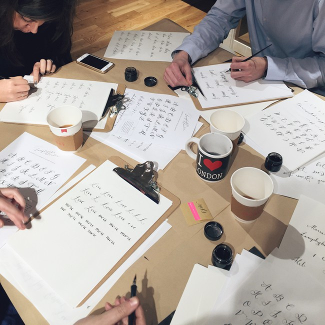 Modern Calligraphy Workshop In London