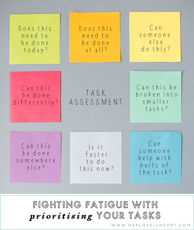 Fighting fatigue with prioritising tasks. Click through to read.
