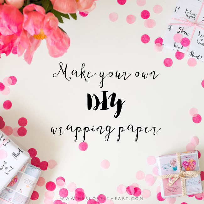 Make your own DIY wrapping paper from Instagram photos.