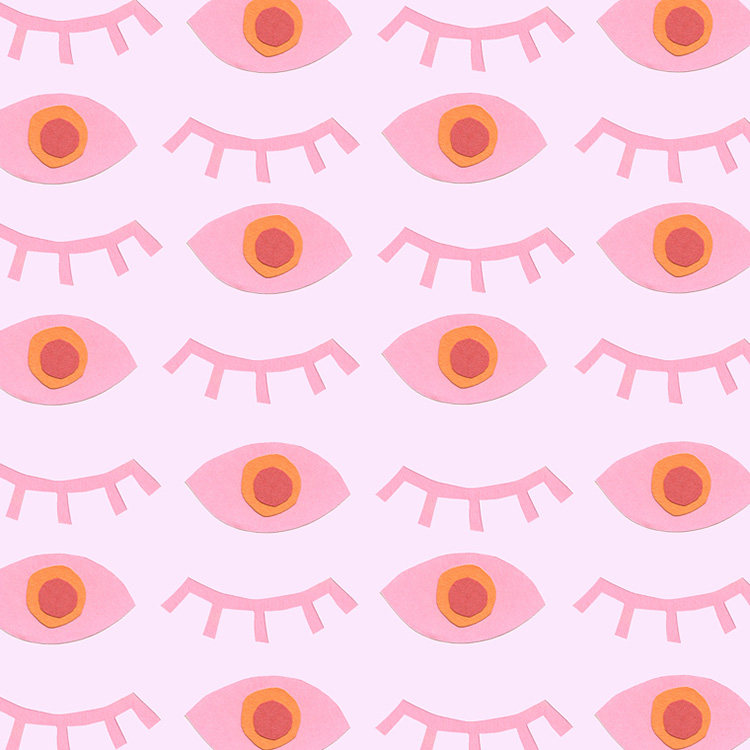 Pink eye pattern! Read our PROfile interview with designer Juliet Meeks!
