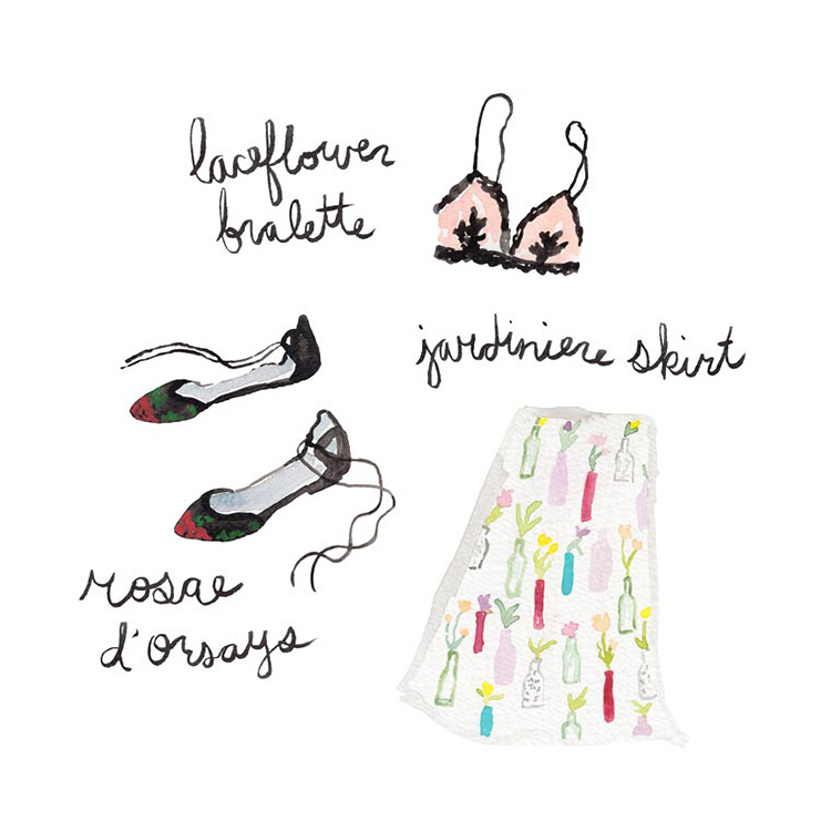 Cutest clothes illustrations. Read our PROfile interview with designer Juliet Meeks!