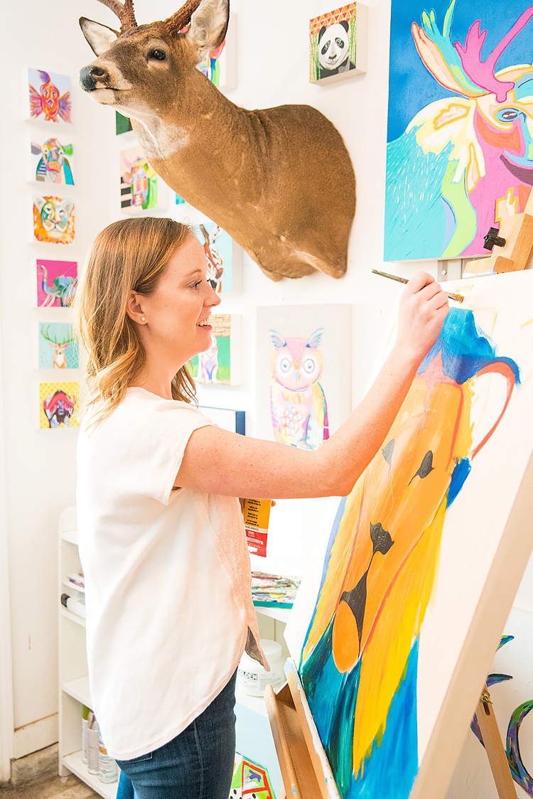 PROfile interview with artist Sally Bunting for Her Lovely Heart. Click through to read!