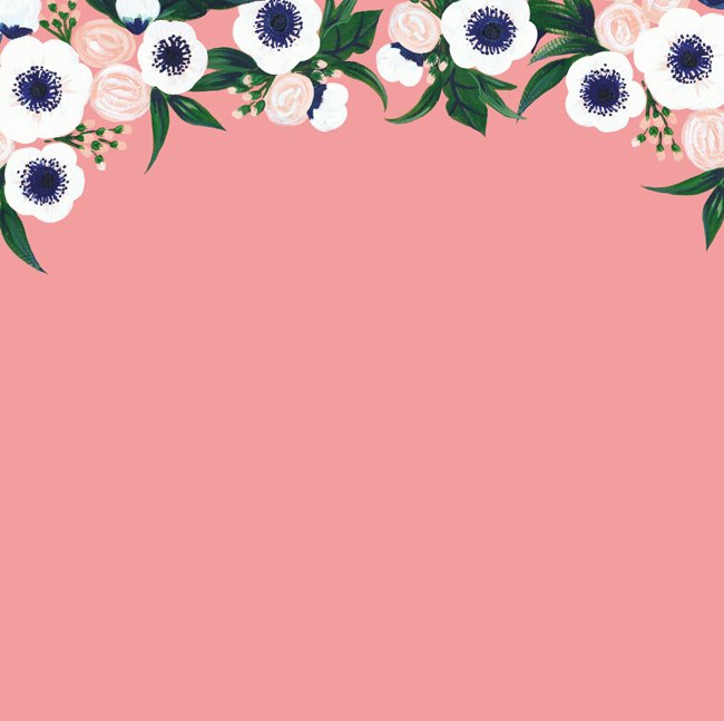 Anemone deskptop wallpaper designed for Her Lovely Heart by Berinmade.