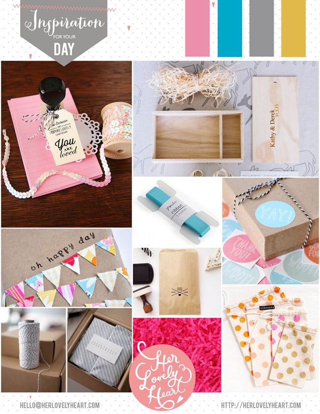 DIY packaging inspiration for a happy office. Click through for details!