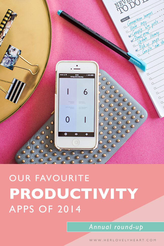 Her Lovely Heart Favourite productivity apps.