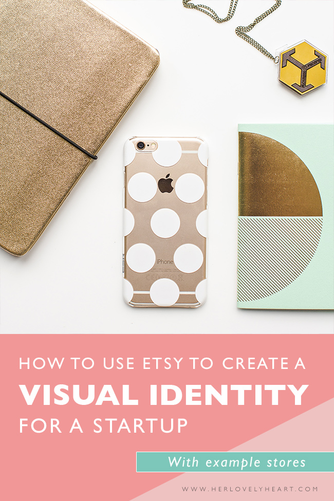 Branding: How to use etsy to create a visual identity for a startup. Click through for example stores.