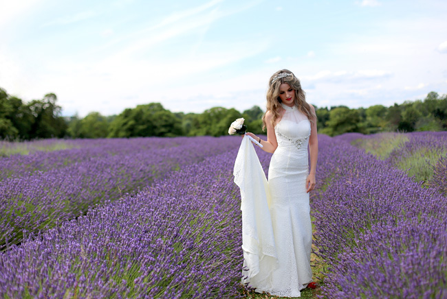 Lavender field shoot by Joie Takaki.