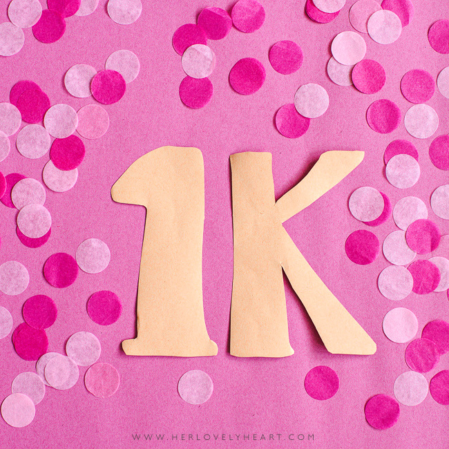 Thank you for 1K Instagram followers.