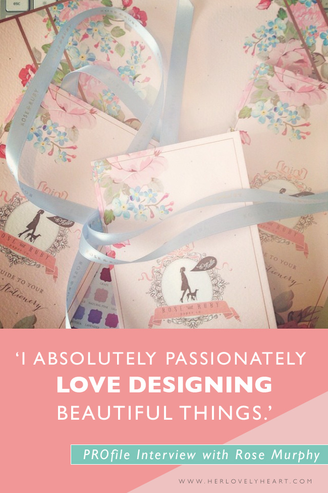 PROfile interview with stationery designer Rose Murphy of Rose & Ruby Paper co. Click through to read!