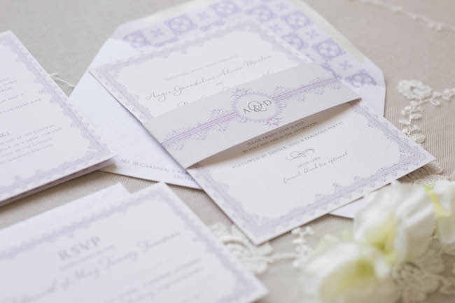 Rose & Ruby Lacey Suite Mulberry Wedding Invitation RSVP 3