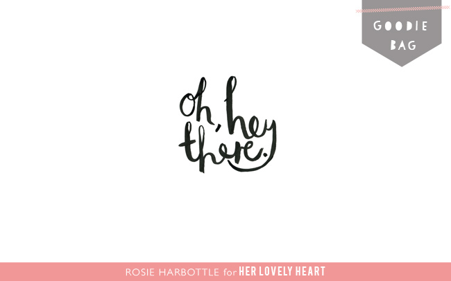 Free desktop wallpaper by Rosie Harbottle for Her Lovely Heart.