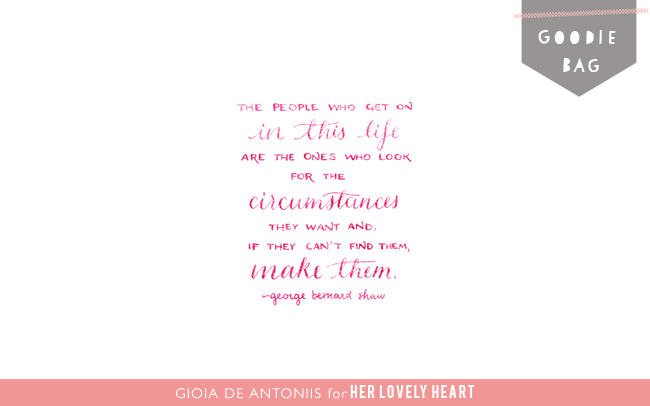 George Bernard Shaw Quote by Gioia de Antoniis for Her Lovely Heart. Click for free wallpaper.