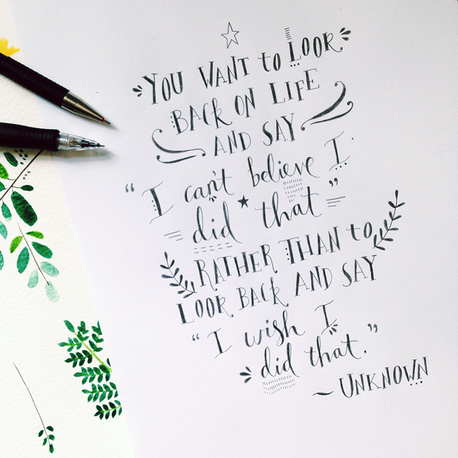Her Lovely Heart Quote of the Week hand-lettered by Rosie Harbottle.