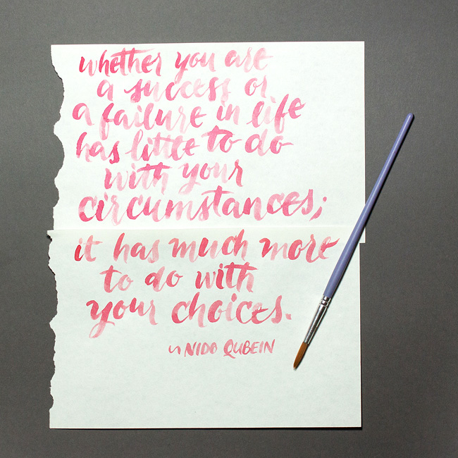 Nido Qubein quote wallpaper hand lettered for Her Lovely Heart by Gioia de Antoniis. Click through to download!