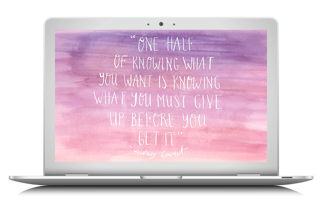 Sidney Howard quote wallpaper by Jorica Glen. Click through to download.