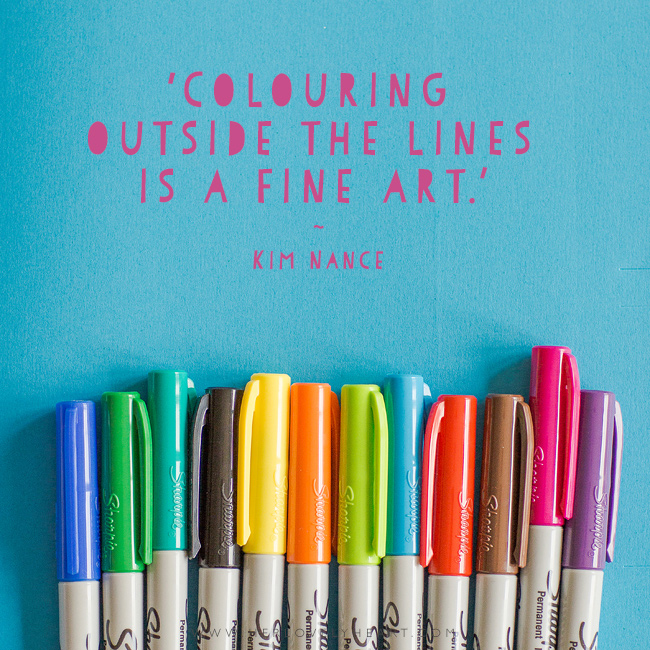 Colouring outside the lines. Latest from the Her Lovely Heart Instagram. #hlhinstaquotes