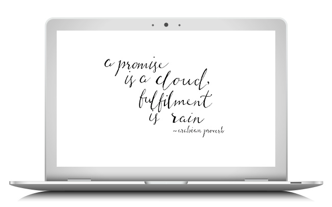 Hand lettered quote wallpaper by Ashley Jayne. Click through to download.