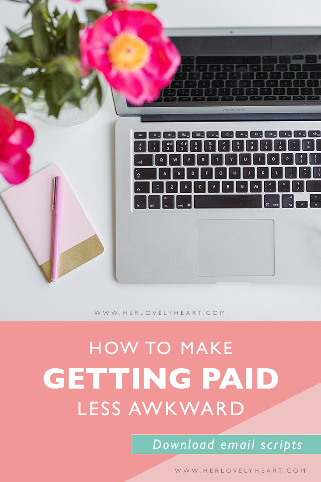 How to make getting paid less awkward. Plus free email scripts. Click through to read and download.