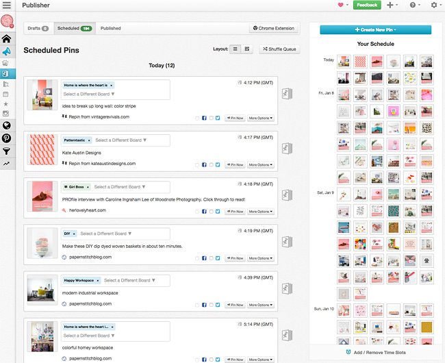 Scheduling Pinterest with Tailwind. Click through to read how to make Pinterest work for your business!