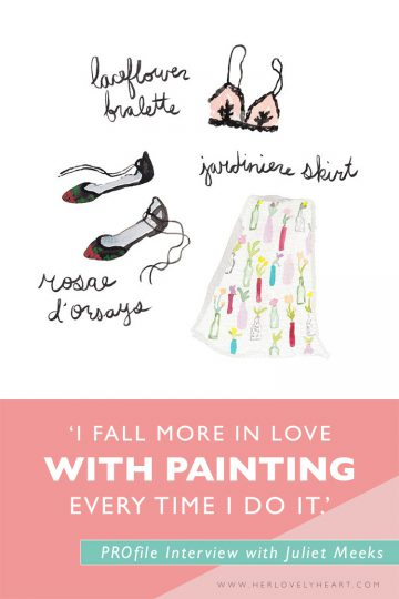 'I fall more in love with painting every time I do it!' Read ourPROfile interview with designer Juliet Meeks!
