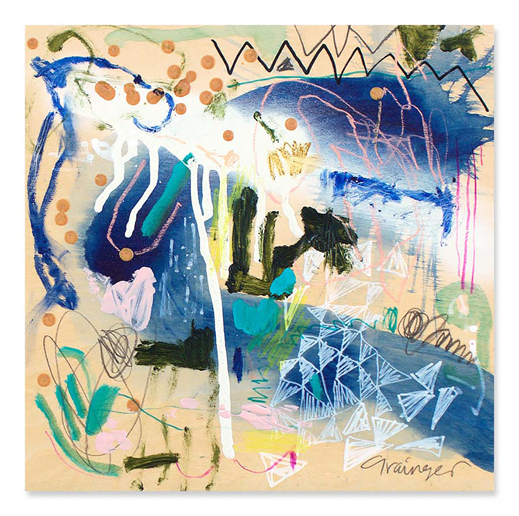 Interview with abstract artist Lesley Grainger by Her Lovely Heart. Click through to read!